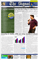 Redesign of 'The Signal' Front Page.