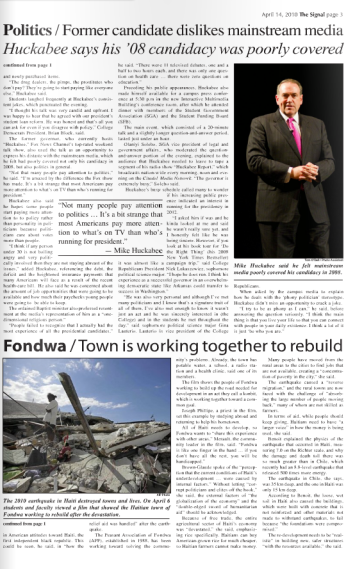 News page from The Signal.